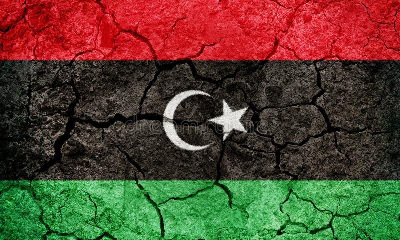 Tillstånd av den Libyen flaggan arkivbilder