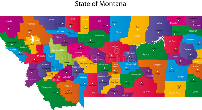 Tillstånd Av Montana Royaltyfria Bilder