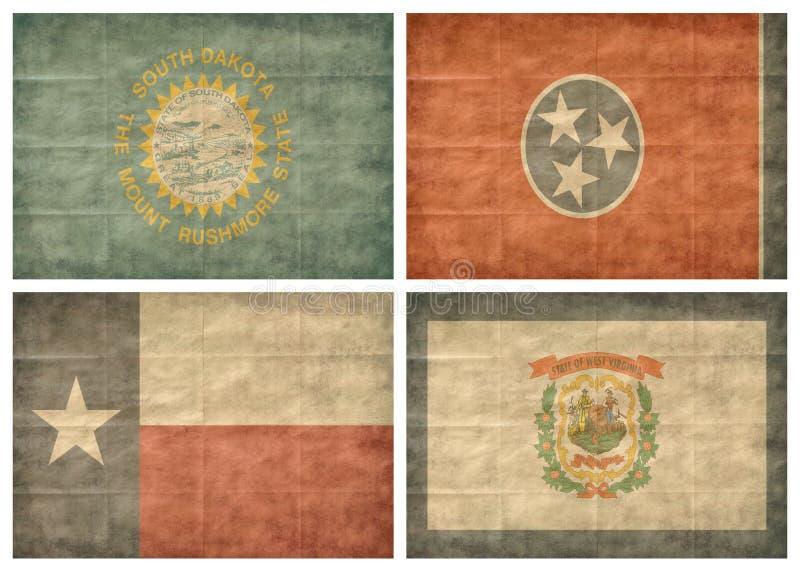tillstånd för 11 13 flaggor oss vektor illustrationer