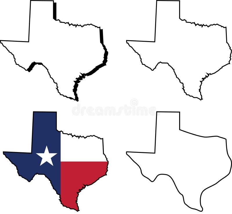 tillstånd texas royaltyfri illustrationer