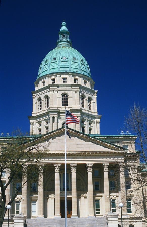 TillståndsCapitol av Kansas arkivfoto