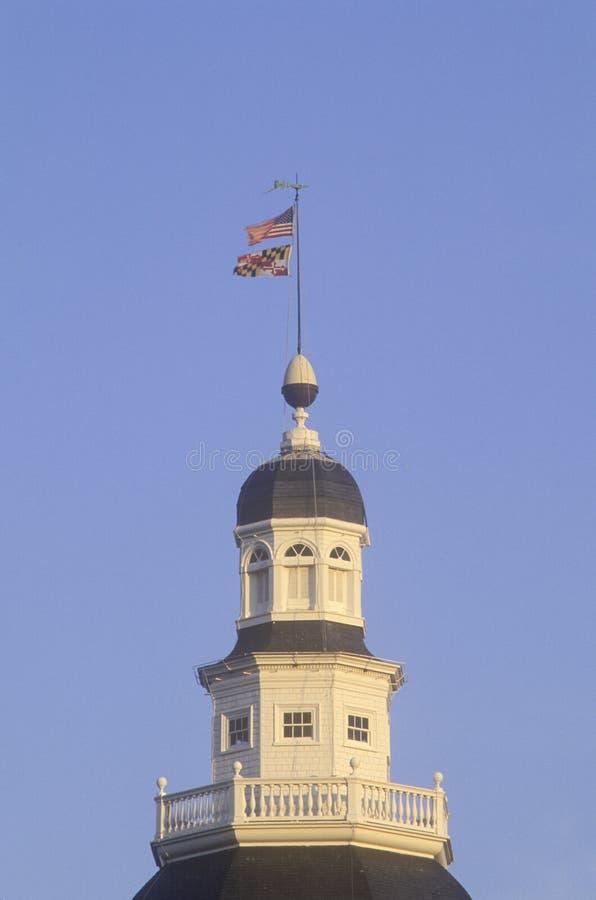 TillståndsCapitol av Maryland royaltyfri fotografi