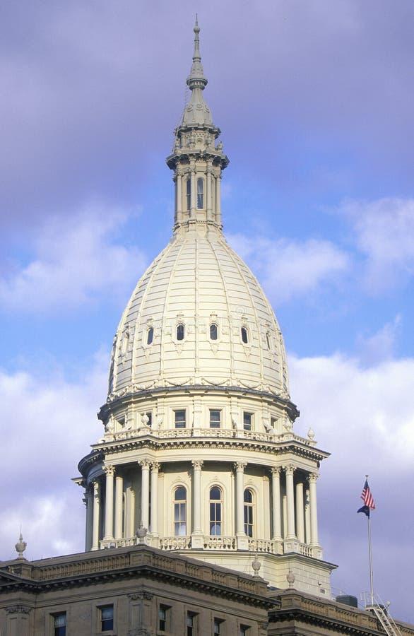 TillståndsCapitol av Michigan royaltyfri bild