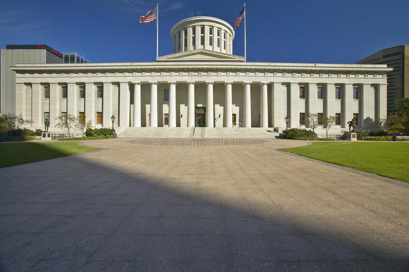 TillståndsCapitol av Ohio arkivbilder