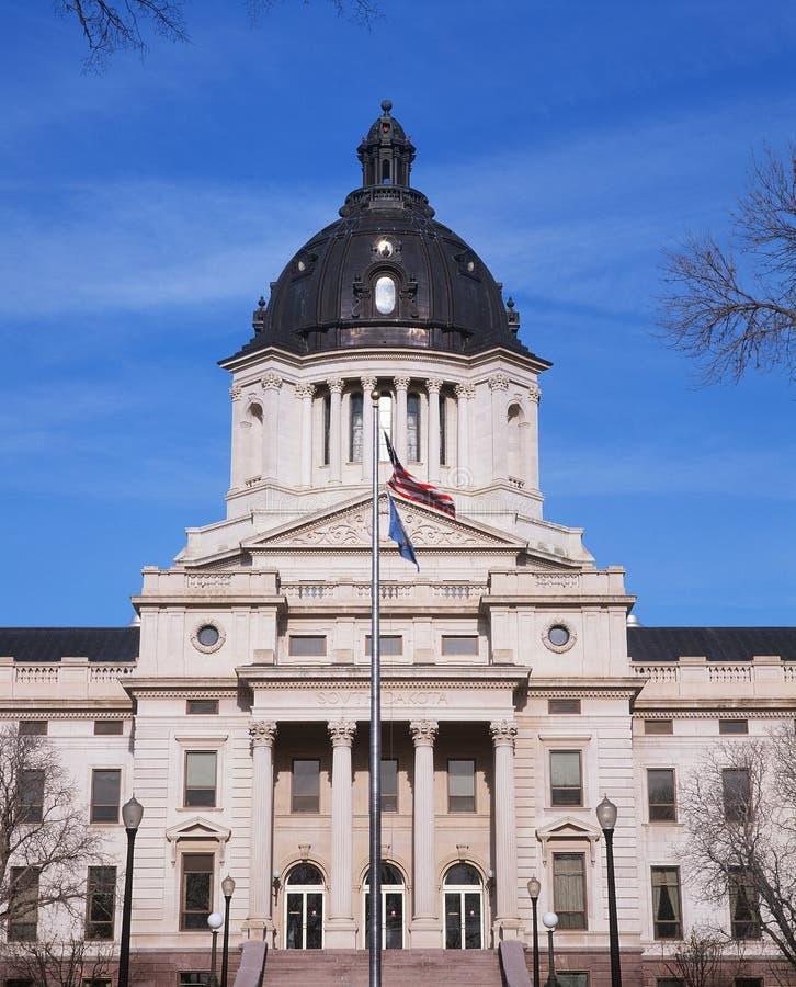 TillståndsCapitol av South Dakota royaltyfri fotografi