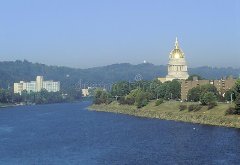 TillståndsCapitol av West Virginia arkivbilder