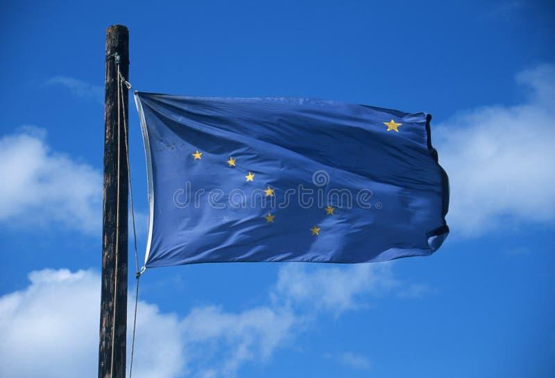 Tillståndsflagga av Alaska royaltyfri foto