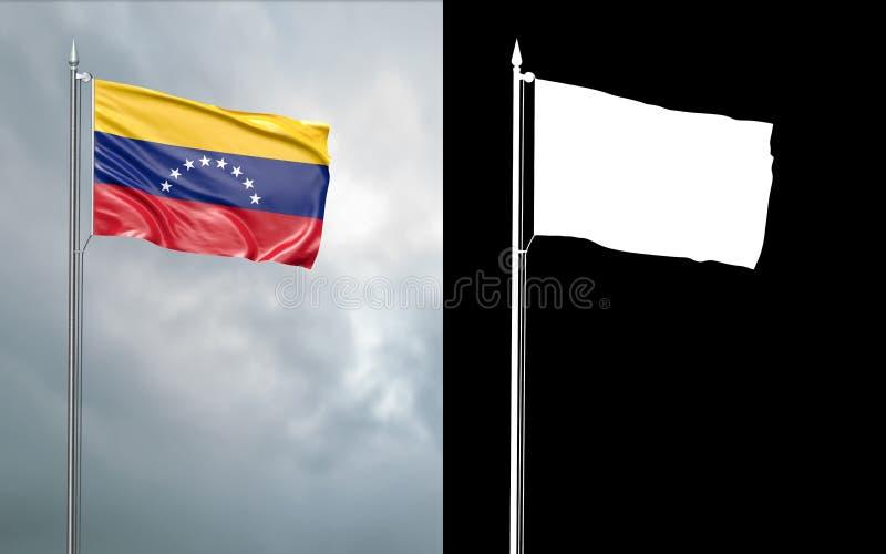 Tillståndsflagga av Bolivarianska republiken Venezuela vektor illustrationer