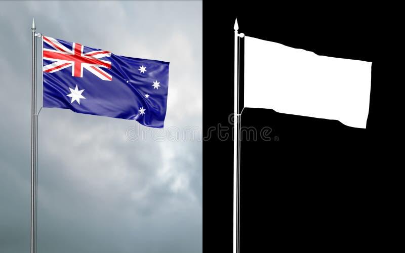Tillståndsflagga av brittiska samväldet av Australien royaltyfri illustrationer