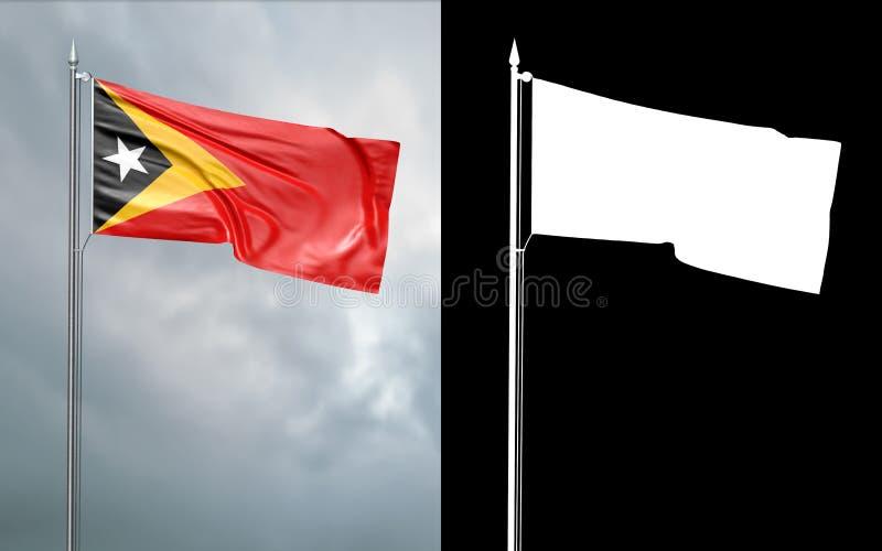 Tillståndsflagga av den demokratiska republiken av Östtimor vektor illustrationer