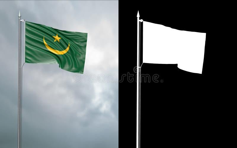 Tillståndsflagga av den islamiska republiken av Mauretania vektor illustrationer