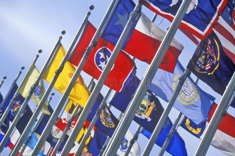 Tillståndsflagga av Iowa fotografering för bildbyråer