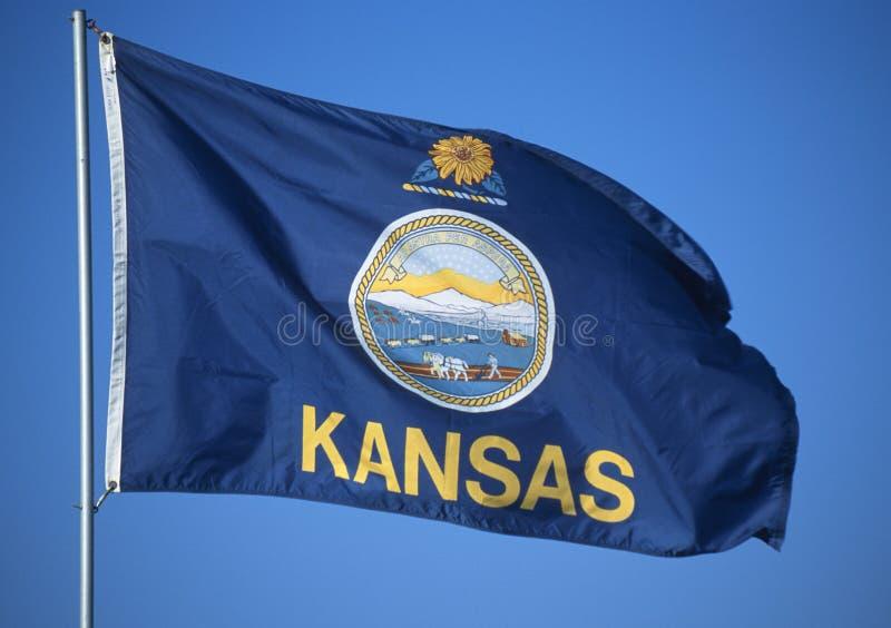 Tillståndsflagga av Kansas royaltyfri bild