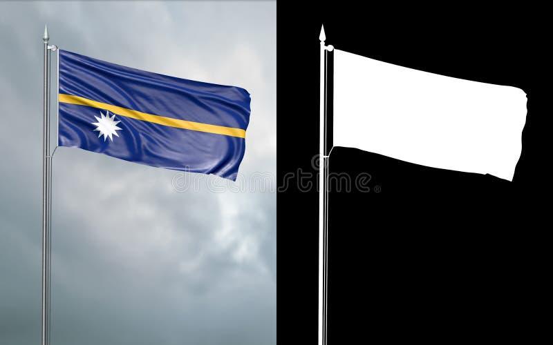 Tillståndsflagga av Nauru med den alfabetiska kanalen vektor illustrationer