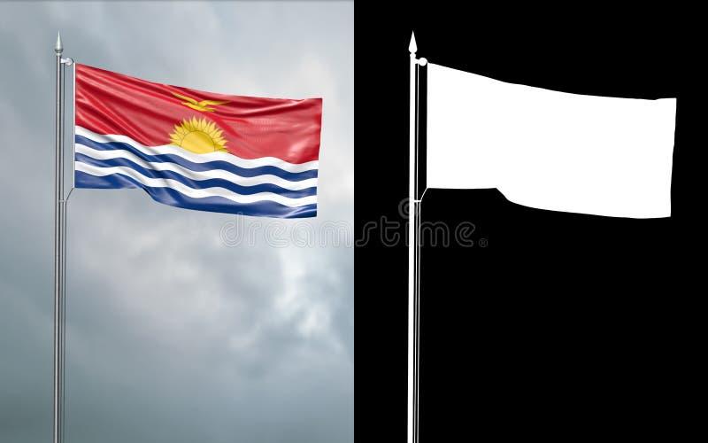 Tillståndsflagga av Republiken Kiribati med den alfabetiska kanalen vektor illustrationer