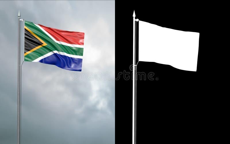 Tillståndsflagga av Republiken Sydafrika vektor illustrationer