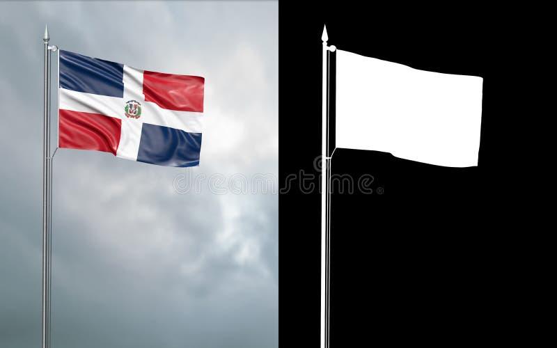 Tillståndsflagga av Samväldet Dominica vektor illustrationer