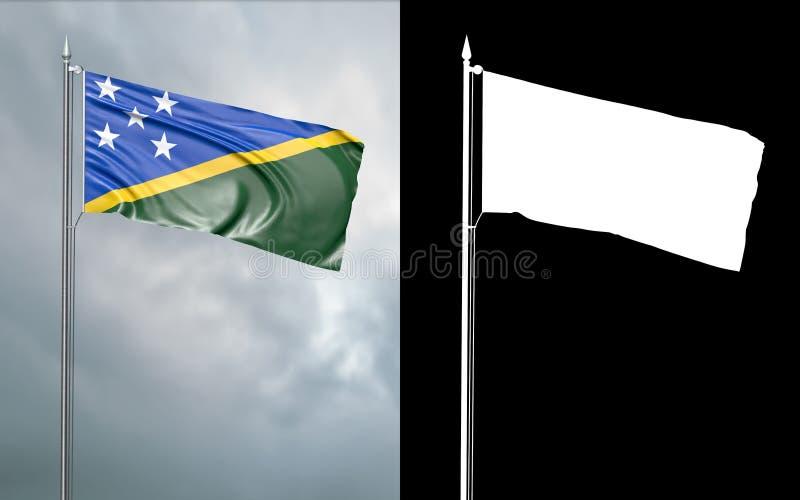 Tillståndsflagga av Solomon Islands med den alfabetiska kanalen royaltyfri illustrationer