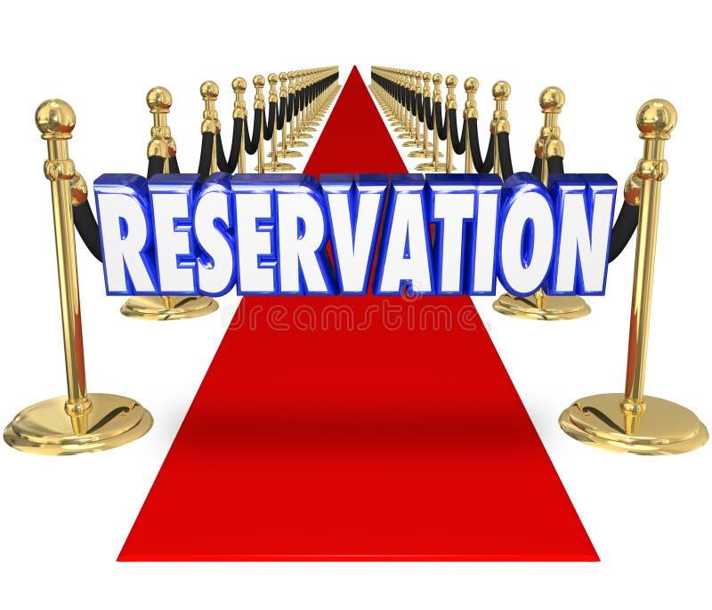 Tillträde för tillträde för klubba för restaurang för röd matta för reservation exklusivt oss vektor illustrationer