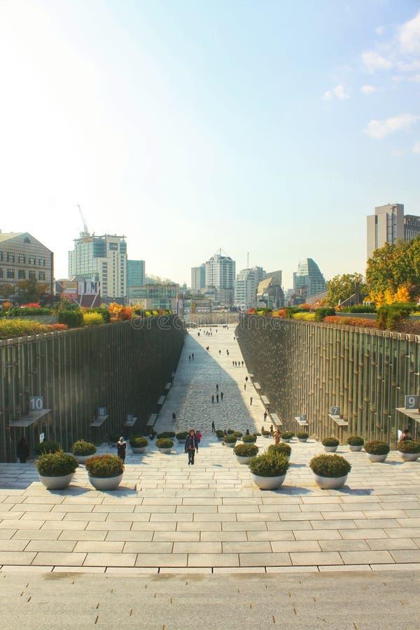 Tillträdesdomstolen av Ehwa kvinnor universitet, Sydkorea fotografering för bildbyråer