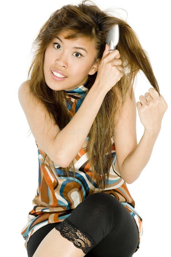 Tilltrasslat hår royaltyfri foto