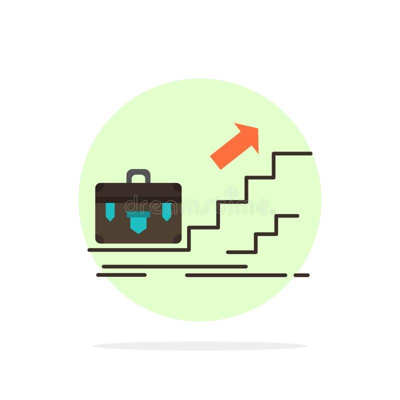 Tillväxt affär, karriär, ledare, ledarskap som är personligt, för abstrakt symbol för färg cirkelbakgrund för framgång plan vektor illustrationer