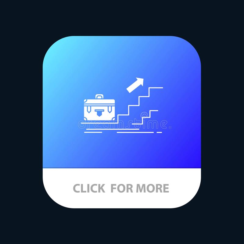 Tillväxt affär, karriär, ledare, ledarskap som är personligt, mobil Appknapp för framgång Android och IOS-skåraversion stock illustrationer