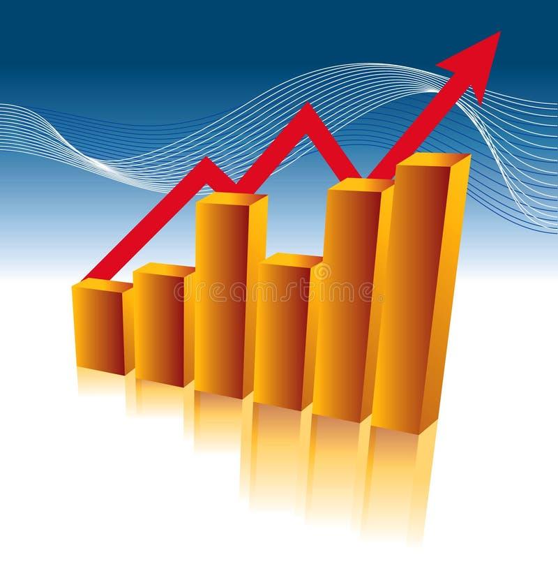 tillväxt för affärsdiagram royaltyfri illustrationer