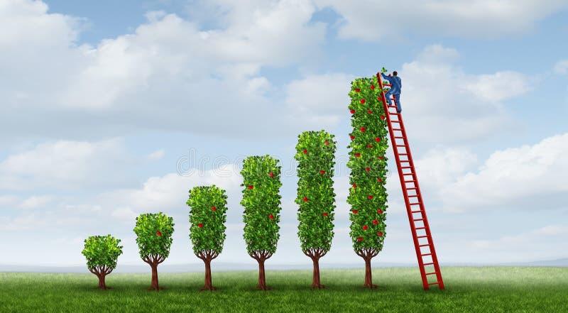 Tillväxt för affärsframgång royaltyfri illustrationer
