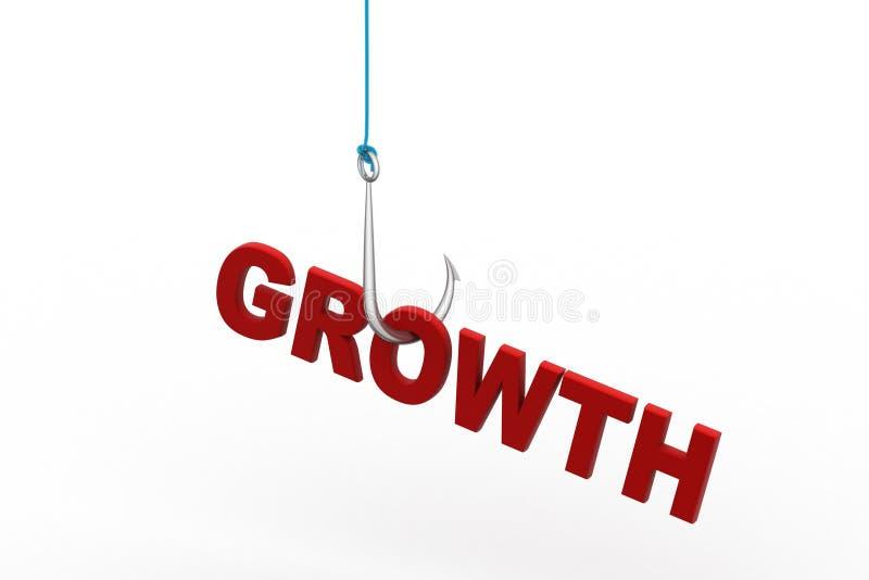 Tillväxt som hänger fiskkroken vektor illustrationer