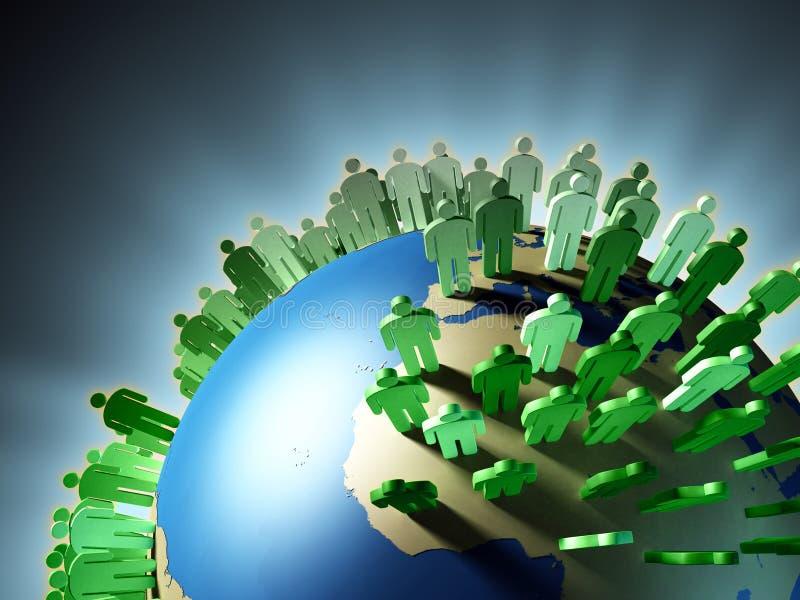 tillväxtbefolkning stock illustrationer