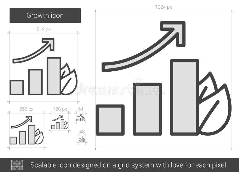 Tillväxtlinje symbol royaltyfri illustrationer