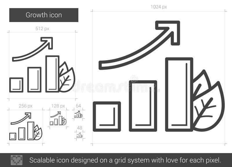Tillväxtlinje symbol stock illustrationer
