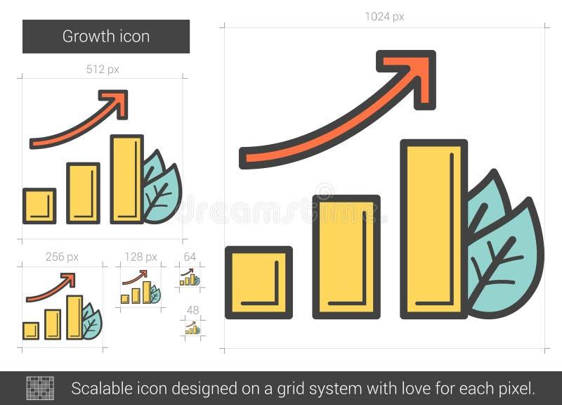 Tillväxtlinje symbol vektor illustrationer