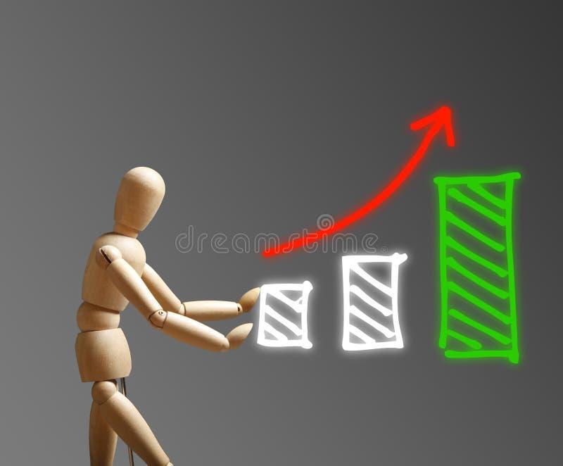 Tillväxtstrategibegrepp arkivfoto
