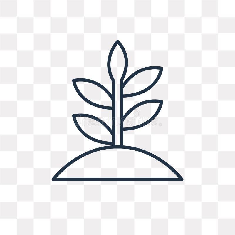 Tillväxtvektorsymbol som isoleras på genomskinlig bakgrund, linjär Gr royaltyfri illustrationer