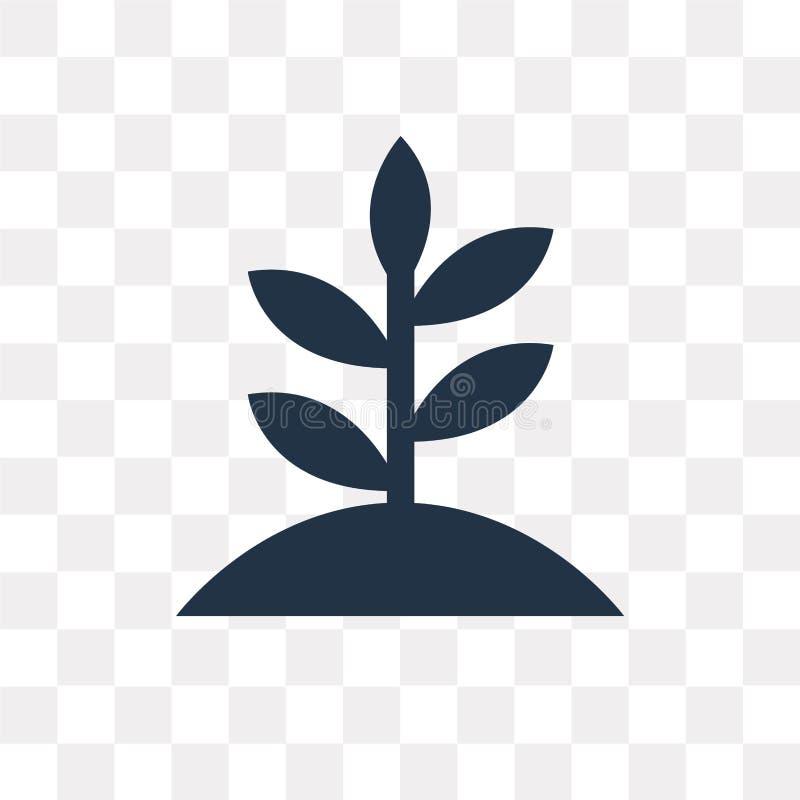 Tillväxtvektorsymbol som isoleras på genomskinlig bakgrund, tillväxt t vektor illustrationer