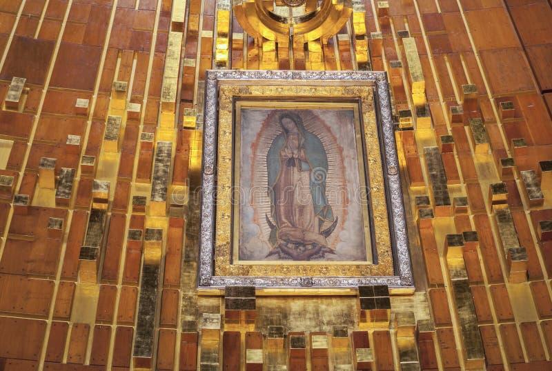 Tilma de nuestra señora de Guadalupe fotos de archivo