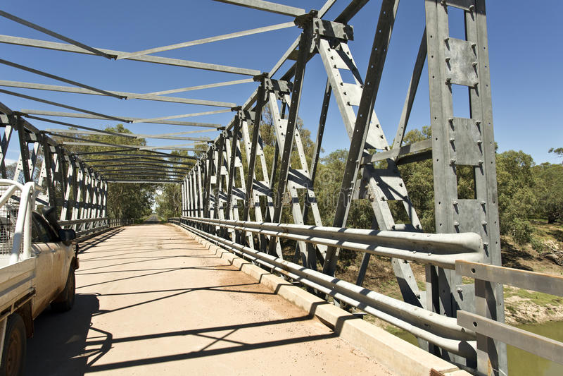 Tilpa Darling River Bridge stock foto