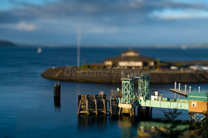 Download Tilt Shift Ferry Terminal stock image. Image of island - 9280745
