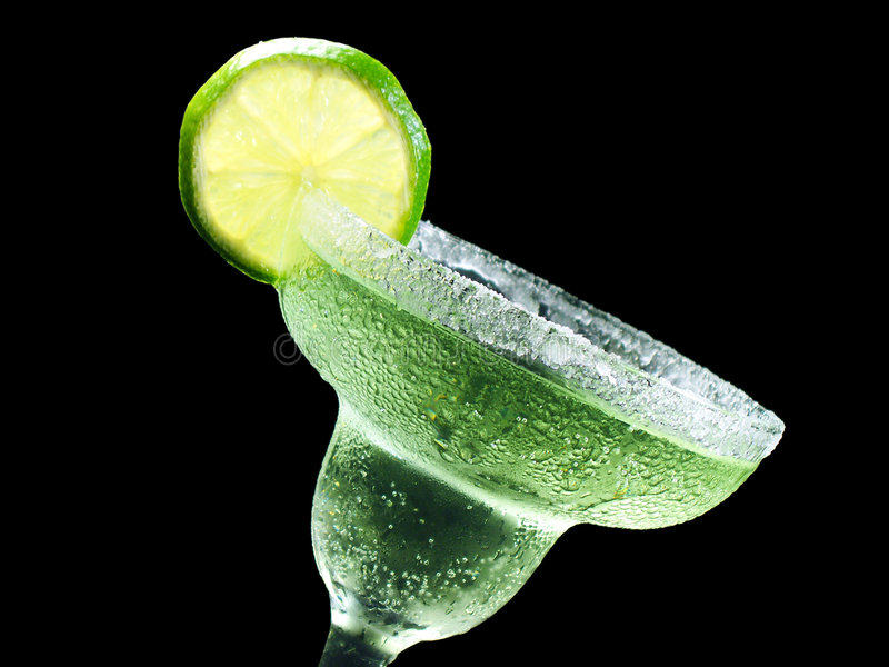 Tilted margarita stock image