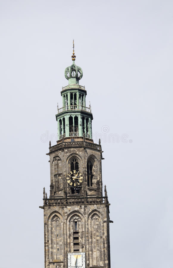 Tilted Martinitower In Groningen Stock Images