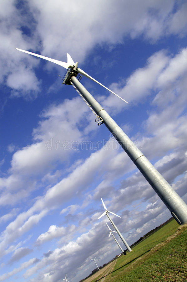 Tilted Windmill stock photography