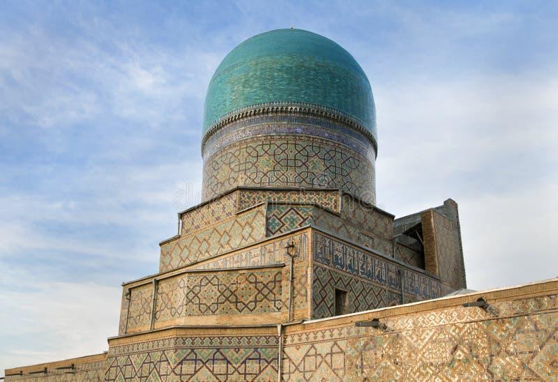 Tilya Kori Madrasah Samarkand, l'Uzbekistan immagine stock libera da diritti