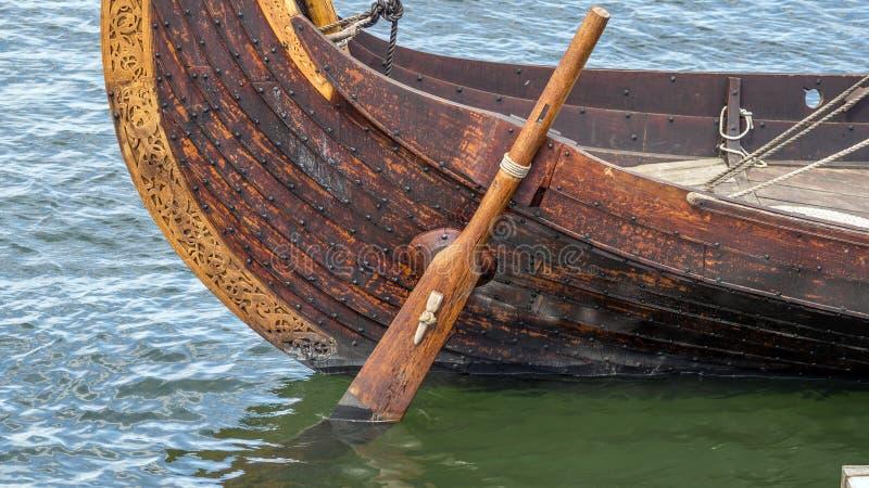 Timón de la nave de Viking foto de archivo
