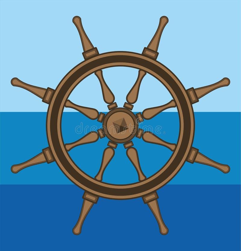 Timón del mar foto de archivo