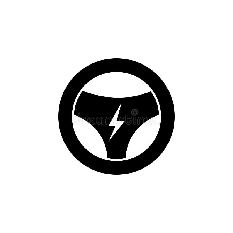 Timón, icono del relámpago en el fondo blanco Puede ser utilizado para la web, logotipo, app móvil, UI UX ilustración del vector