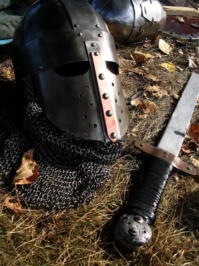 Timón y espada fotos de archivo libres de regalías