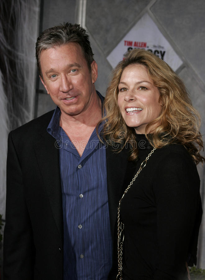 Tim Allen and Jane Hajduk. Attend the Walt Disney's World Premiere of The Shaggy Dog held at the El Capitan Theatre in Hollywood, California on March 7, 2006 royalty free stock photography