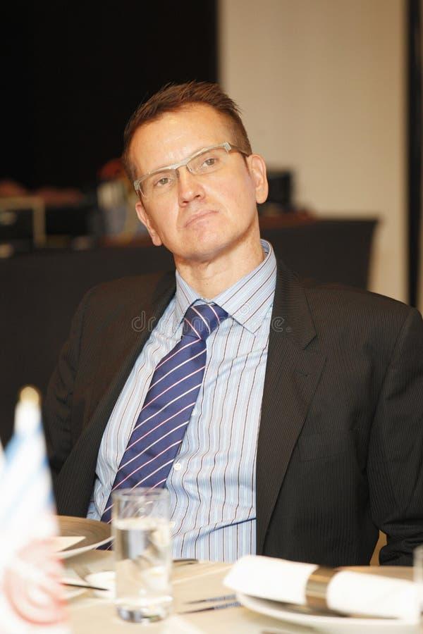 Tim Berge, direttore generale di ICRT immagini stock libere da diritti